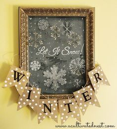 Let It Snow! - Chalkboard Art