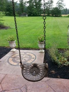 My pap george's old tractor seat used as a swing :-D: