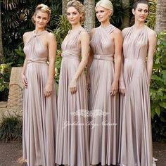 Two Birds Bridesmaid Dress This Is A Convertible That Can Be Styled Many Diffe