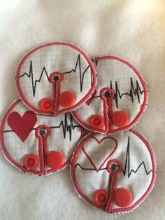 A personal favorite from my Etsy shop https://www.etsy.com/listing/277244180/i-heart-you-g-tube-pad-4-pack