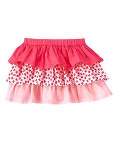 Pretty Poppy Ruffled Skirt 4T