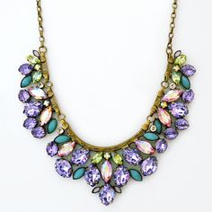 Sorrelli Spring Rain.  Pastel crystals joined by lavender, blue & mint are in full bloom.