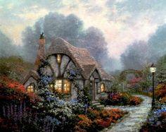 Chandler's Cottage PP 16X20  Thomas Kinkade $4,360