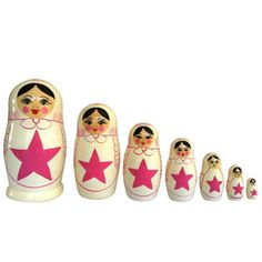 Star Nesting Doll Pink Set Of 7, £59, now featured on Fab.