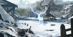 Spirit Deer by Kalberoos