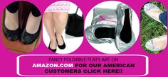 Fancy Foldable Flats that are now on Amazon in the united States and UK click to see our fancy emergency shoes.