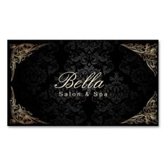 Hair makeup artist natural hair salon business card business stylish floral framed damask salon spa business card colourmoves