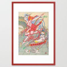 """Framed Art Print / LARGE (26"""" X 38"""")  $118.00"""