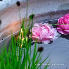 Ein romatischer Mini-Teich für den Garten oder Balkon DIY