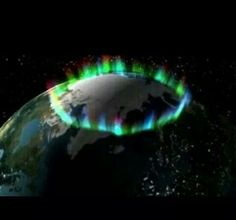 Ring of fire. Northern lights taken by NASA