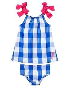 Juicy Couture Gingham Print Woven Dress