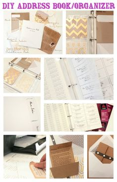 Address Book | 50 Clever DIY Ways To Organize Your Entire Life