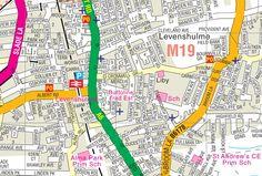 Levenshulme Manchester Uk, England, Map, Places, Location Map, Maps, English, British, United Kingdom