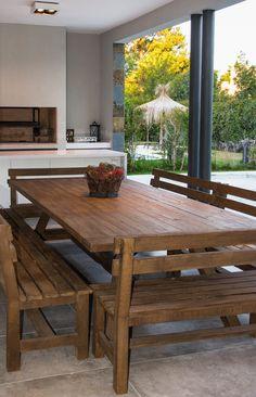 Exterior House Siding, Grey Exterior, Exterior Paint, Tropical House Design, Patio Shade, Backyard Patio Designs, Dream Home Design, Design Case, House Layouts