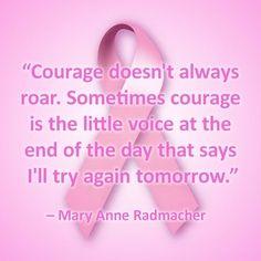 Hard won courage.