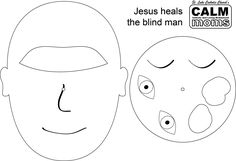 jesus heals blind man coloring page graphic Cool