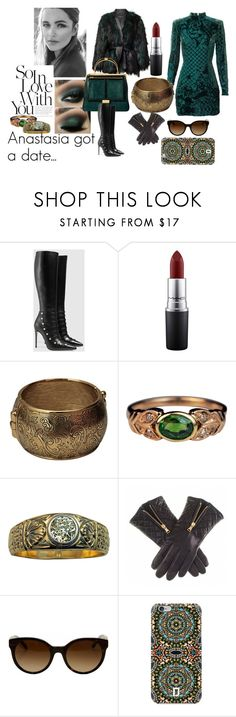 """Anastasia in love"" by supersilent on Polyvore featuring Balmain, Gucci, MAC Cosmetics, Yves Saint Laurent, Tory Burch, DANNIJO, modern, women's clothing, women's fashion and women"