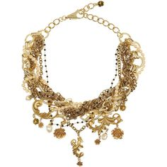 Dolce & Gabbana Gold-plated glass pearl necklace ($2,060) ❤ liked on Polyvore featuring jewelry, necklaces, accessories, colares, collares, collar necklace, baroque pearl necklace, glass jewelry, pearl chain necklace and gold plated jewelry
