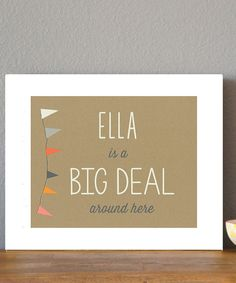 This White 'Big Deal' Personalized Print by Leo Leo by Children Inspire Design is perfect! #zulilyfinds