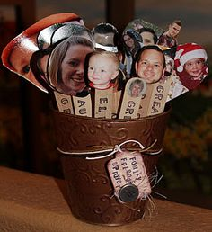 I LOVE this idea:  Prayer Sticks: popsicle stick with picture of family member or friend. Each day have child draw a name and you both pray for that person. Fabulous way to teach importance of prayer for others.
