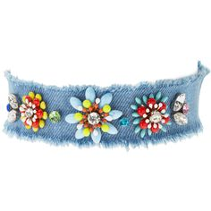 Cara Couture Jewelry Women's Frayed Flower Choker (€30) ❤ liked on Polyvore featuring jewelry, necklaces, multi, choker necklace, choker jewelry, cara couture, flower jewelry and cara couture jewelry
