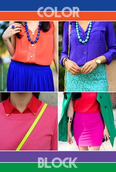 A moda: Color Block!
