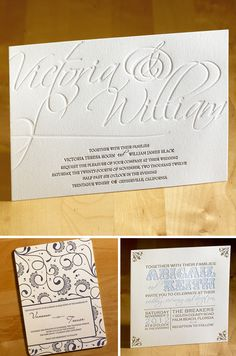 Love this letterpress wedding invitation