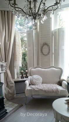 awesome AVA - mismatched furniture in neutral shades of tone on tone whites... by http://www.best99homedecorpics.us/romantic-home-decor/ava-mismatched-furniture-in-neutral-shades-of-tone-on-tone-whites/