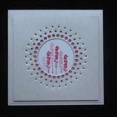 Memory Box large circle burst die, Inkylicious flower stamp