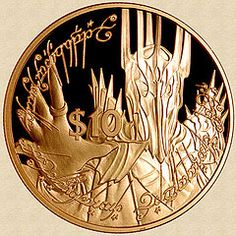 New Zealand 2003 Gold Sauron and the One Ring Coin, wow!