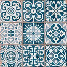 Carrelage ancien mat bleu 33 x 33 cm - FS1104006 comptoire du cerame 30x30 27,43 TTC/m2 pour la crédence