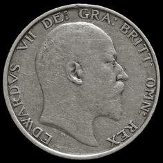 1904 Edward VII Silver Shilling – Rare – GF