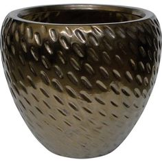 Add style and shine to the garden with this Bronze Egg Pot - ideal for making a statement entrance to your home