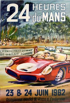 24 Heures du Mans by Beligond, Michel | Shop original vintage posters online: www.internationalposter.com