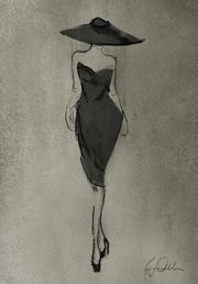 """TROWBRIDGE - Poppy Waddilove Fashion - """"From a young age I have always drawn people I observed and doodled fashion sketches from them. This led me to complete a foundation art and design course at Central Saint Martins followed by an Illustration degree at London College of Fashion. In my pieces I aim to create a timeless elegance in the women I portray. The mediums I tend to use are whatever comes to hand but most of the time I use oils, acrylics and a smudge of charcoal. My in"""