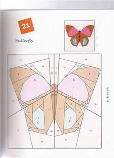paper foundation piecing butterflies - Google Search