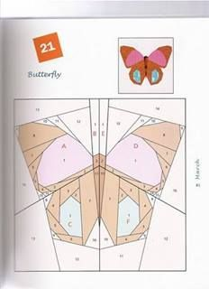 paper foundation piecing butterflies - Google Search