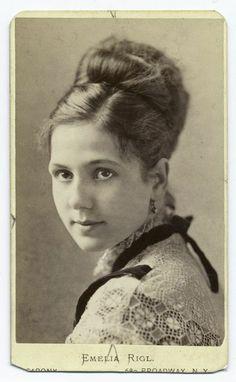 Emelia Rigl - NY stage actress (1870s)