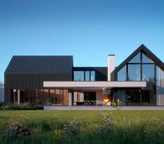 House project: LK & 1456 - Exclusive HOUSE project: Life at the highest level - Minimalist House Design, Modern House Design, Modern Barn House, Modern Farmhouse Exterior, Dream House Exterior, Facade House, Home Fashion, Modern Architecture, Building A House
