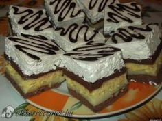 See related links to what you are looking for. Hungarian Desserts, Hungarian Cake, Hungarian Recipes, My Recipes, Cooking Recipes, Favorite Recipes, Cake Bars, Something Sweet, Diy Food