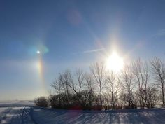 Sundog In North Dakota by Christy Patino Photography