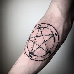 101 Amazing Pentagram Tattoo Ideas That Will Blow Your Mind! Emo Tattoos, Satanic Tattoos, Goth Tattoo, Scary Tattoos, Mini Tattoos, Black Tattoos, Body Art Tattoos, Tattoos For Guys, Tatoos