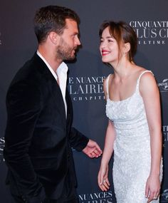 #dakotajohnson and #jamiedornan in the premiere of #fiftyshadesfreed