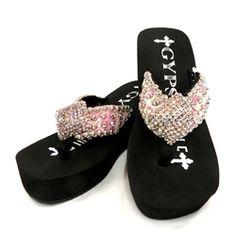 aa8ae9eee82b Gypsy Soule Sassy Embellished Flip Flops  259.95