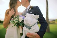 Newlyweds who love their dog are our favorite! Anna Kim Photography