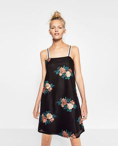 Image 1 of FLORAL EMBROIDERED DRESS from Zara