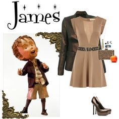 """James and the giant Peach"" by smelnikoff on Polyvore"