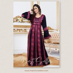 This navy blue Persian Kaftan Dress with bright pink machine embroidery work has been a top favourite among our clients. Made with 100% pure cotton, this chic outfit promises maximum comfort and style. Product no: 8490 Long Kaftan Dress, Kaftan Abaya, Casual Dresses, Formal Dresses, Chic Dress, 100 Pure, Bright Pink, Cotton Dresses, Chic Outfits
