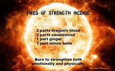 Fires of Strength Incense blend by Moonlight Musings. - Pinned by The Mystic's Emporium on Etsy Witch Spells Real, Wiccan Spells, Magic Spells, Wiccan Magic, Magick, Homemade Incense, Magic Spell Book, Spell Books, Smudging Prayer
