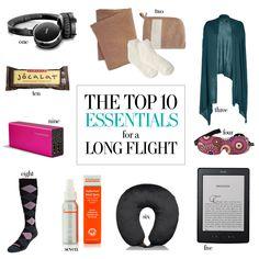 10 Essentials for Long Flights
